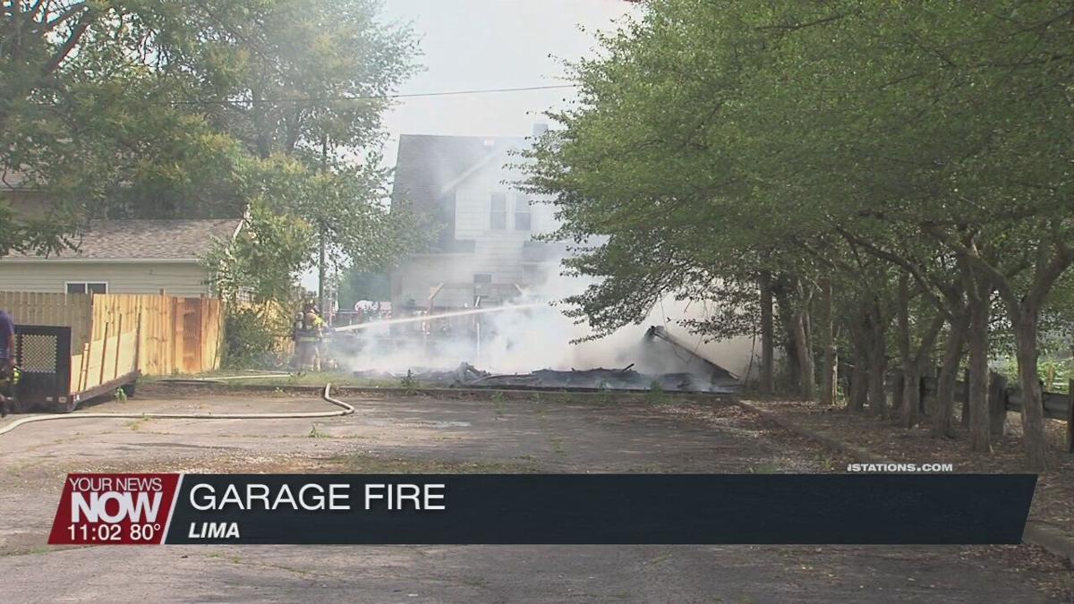 Garage fire under investigation in Lima