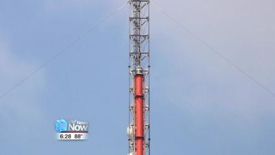 New antenna installed at Hometown Stations new transmitter site.jpg