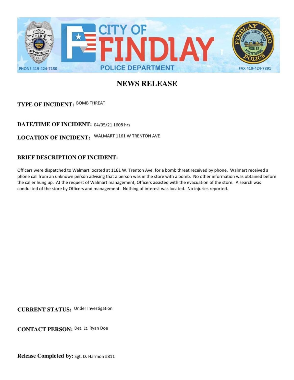 Findlay Walmart Bomb Threat.pdf