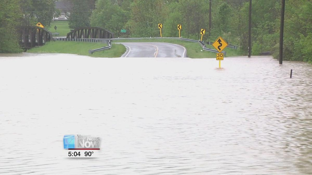 Bath Twp. Fire makes water rescue on flooded road