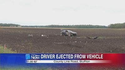 Driver ejected from vehicle after rolling