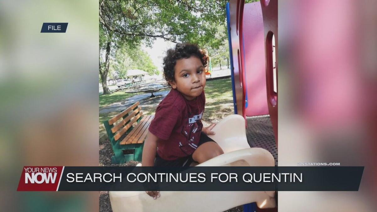 Search for 4 year old Quentin Ellcessor moves into 5th day
