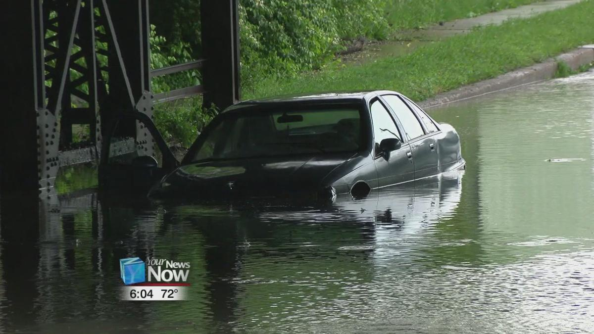 Flash flooding causes problems on area roadways