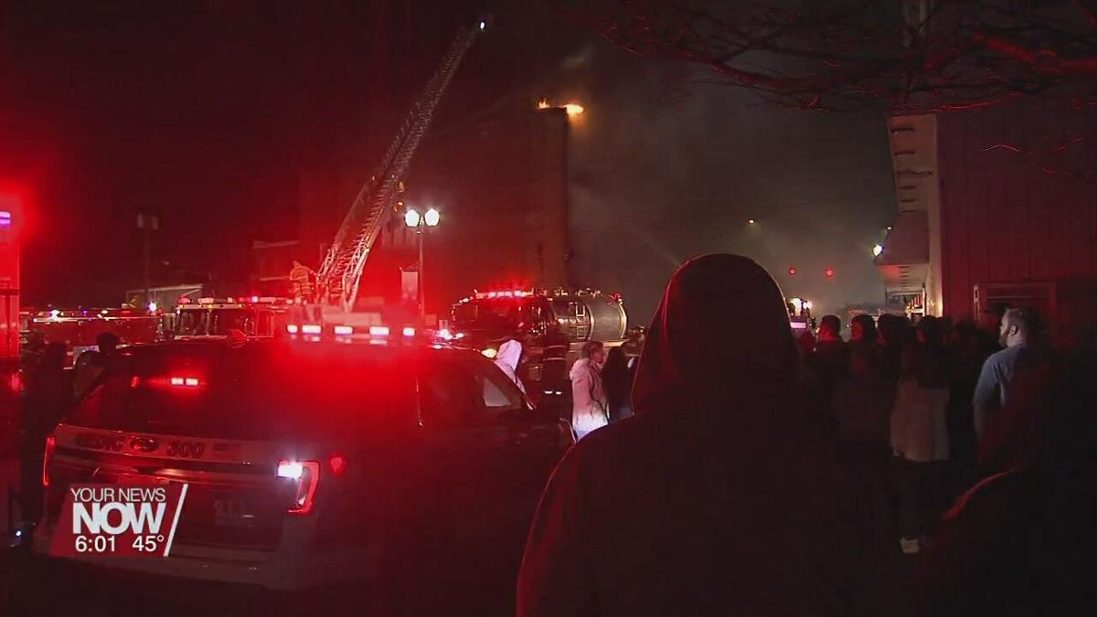 Community in shock after fire destroys historic building and more in Columbus Grove