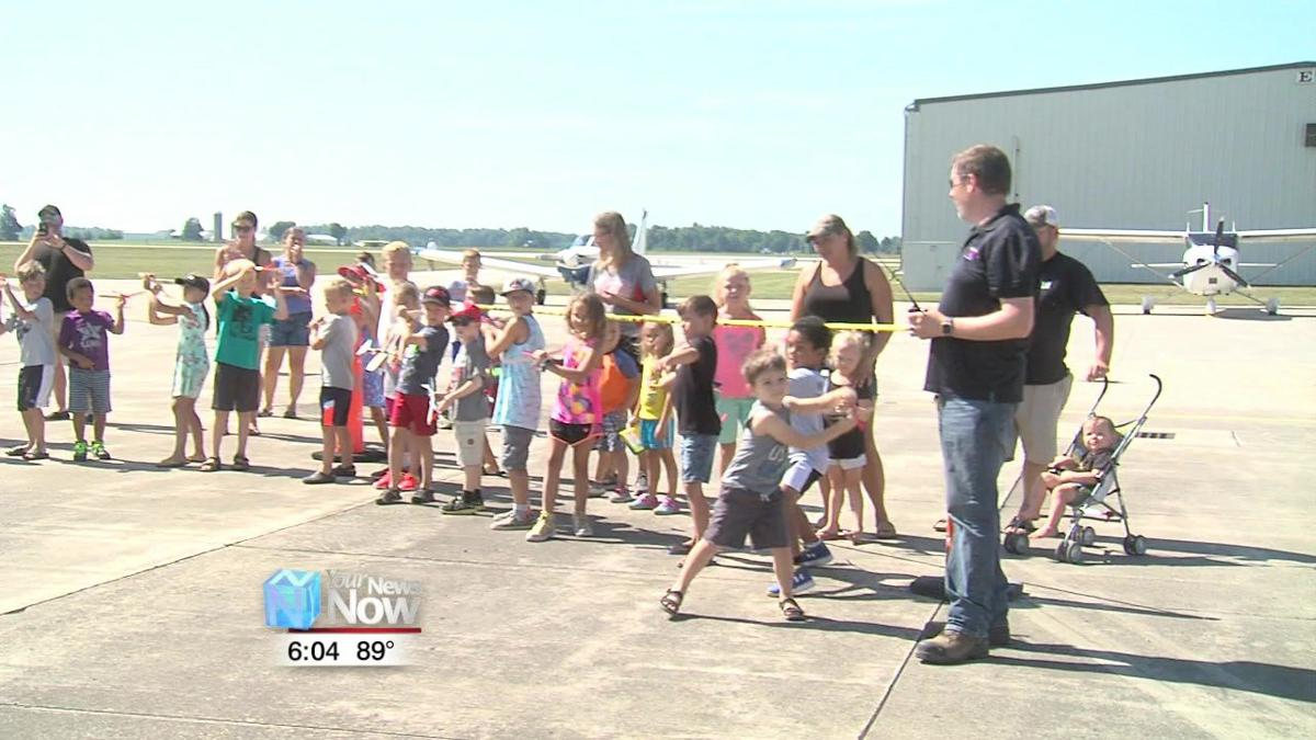 Kids compete in Rubber Band Airplane contest1.jpg