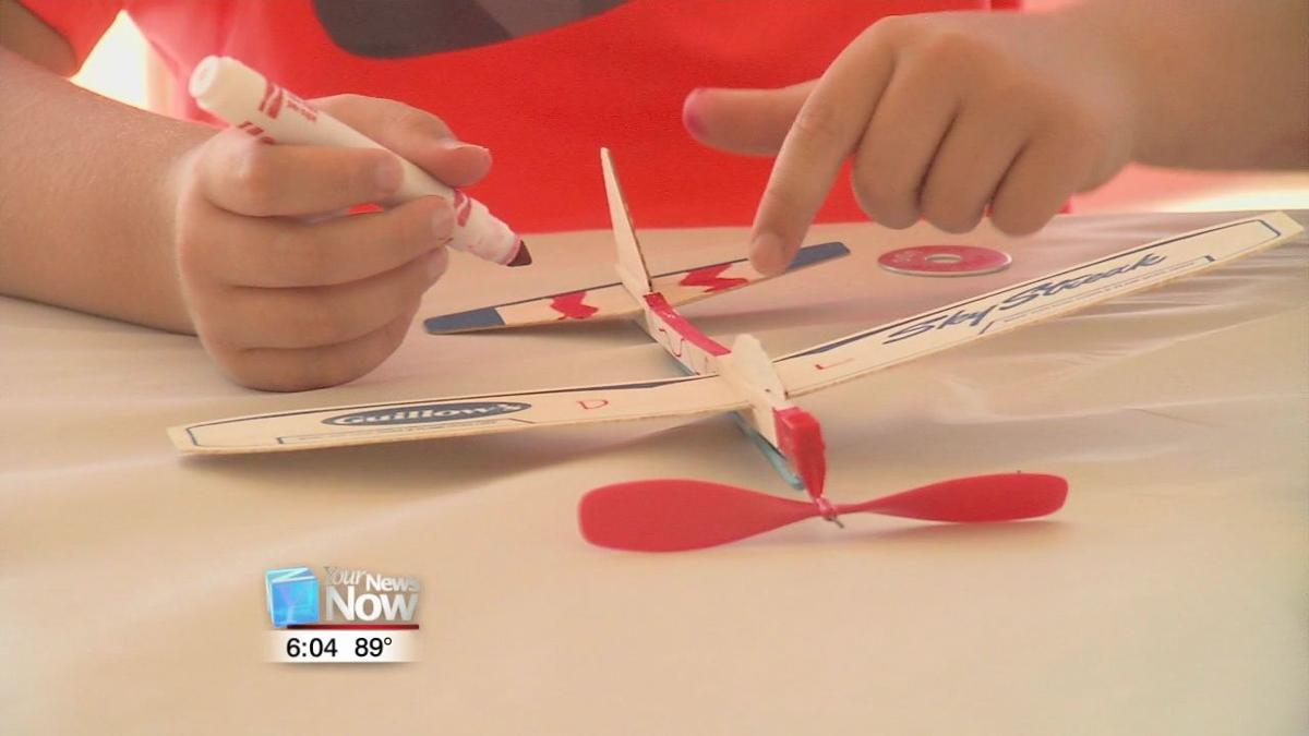 Kids compete in Rubber Band Airplane contest.jpg