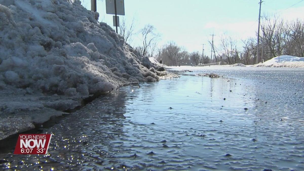 Lima City officials asking residents to make path for melting snow