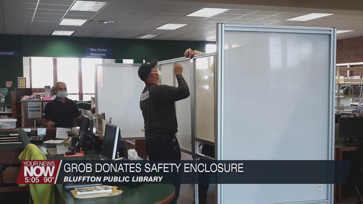 GROB donates safety enclosure to the Bluffton Public Library