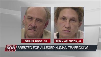 An Allen County man and woman arrested for suspicion of human trafficking