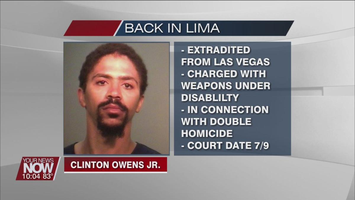 Clinton Owens Jr. back in Lima facing charges in connection with Sanders double murder
