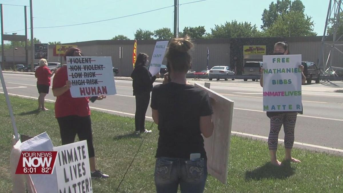 Protest outside of the Allen Oakwood Correctional Institution