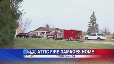 Attic fire damages a Putnam County home