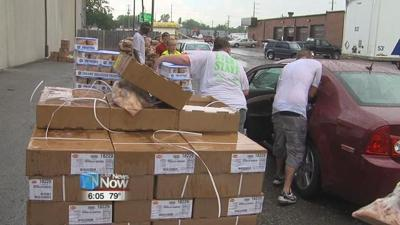 West Ohio Food Bank holds Food Distribution