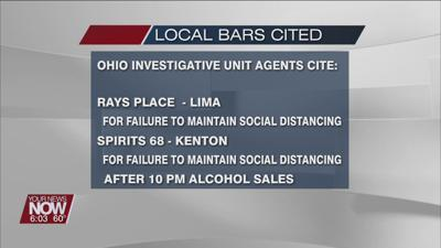 Investigative Unit Agents issue citation for Lima and Kenton bars