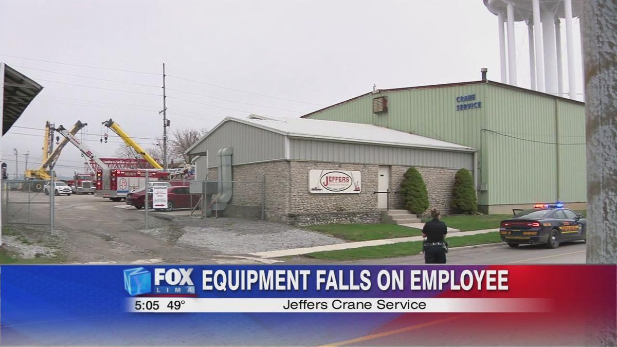 Equipment falls on employee at Jeffers Crane Service
