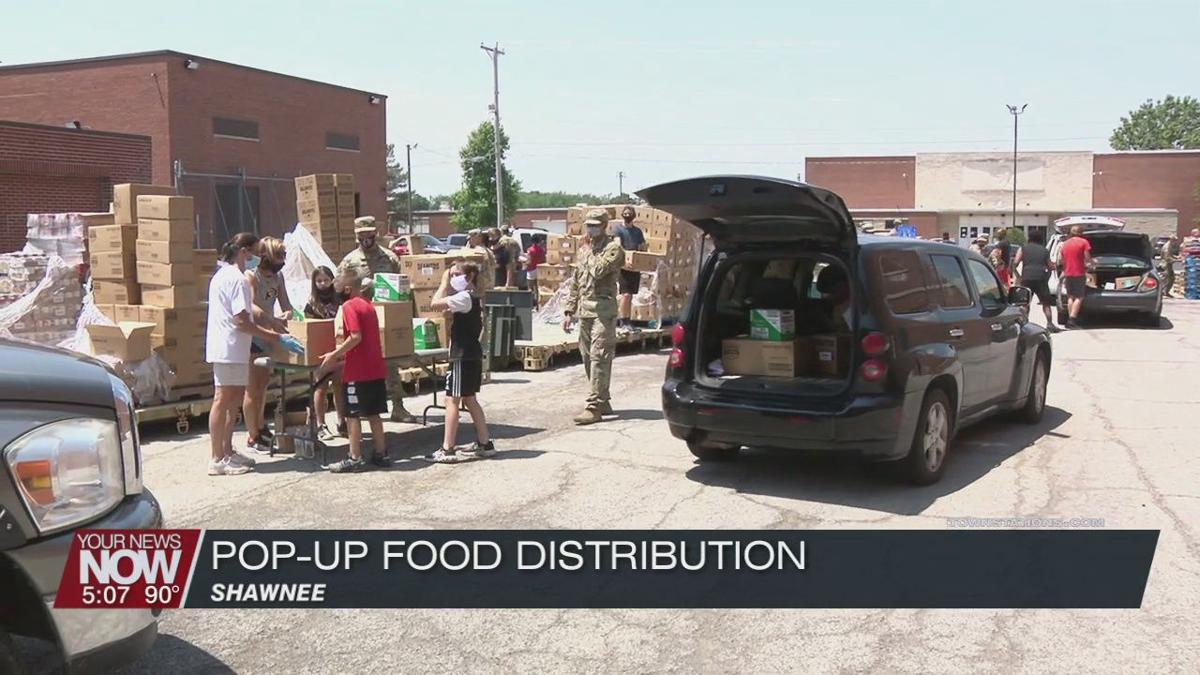 Food distribution event held at Shawnee Middle School