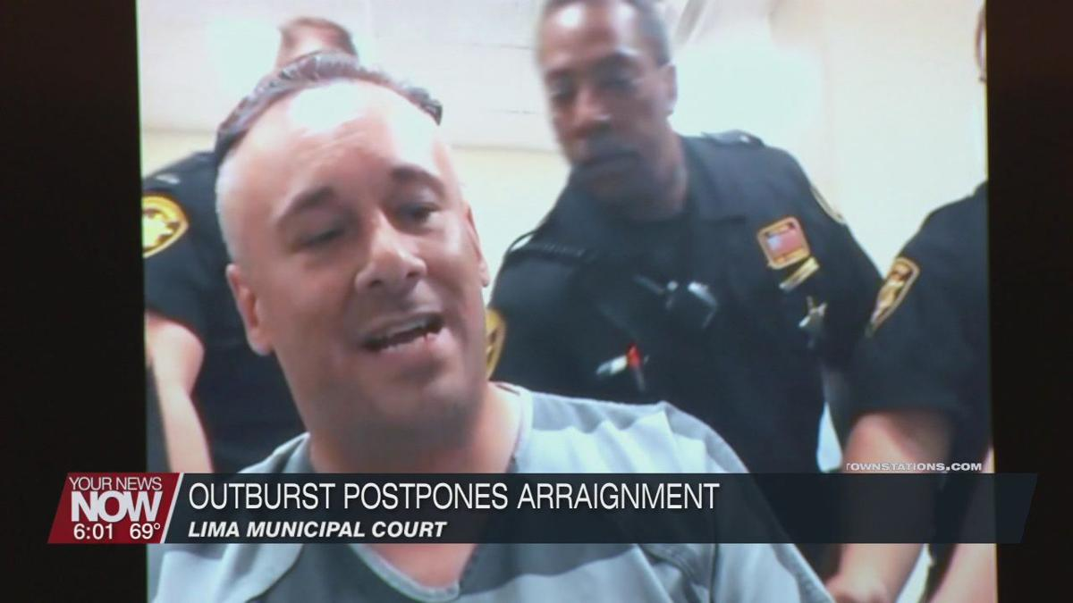 Arraignment postponed following suspect's outburst as Lima Municipal Court gets back to business