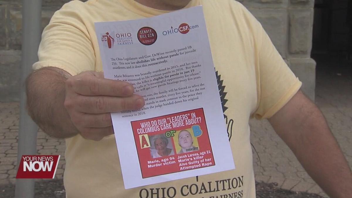Ohio native protests Senate Bill 256, which offers parole to juvenile criminals