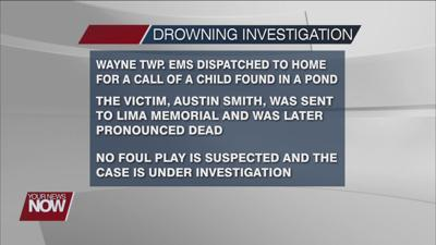 Auglaize County Sheriff's Office looking into drowning incident