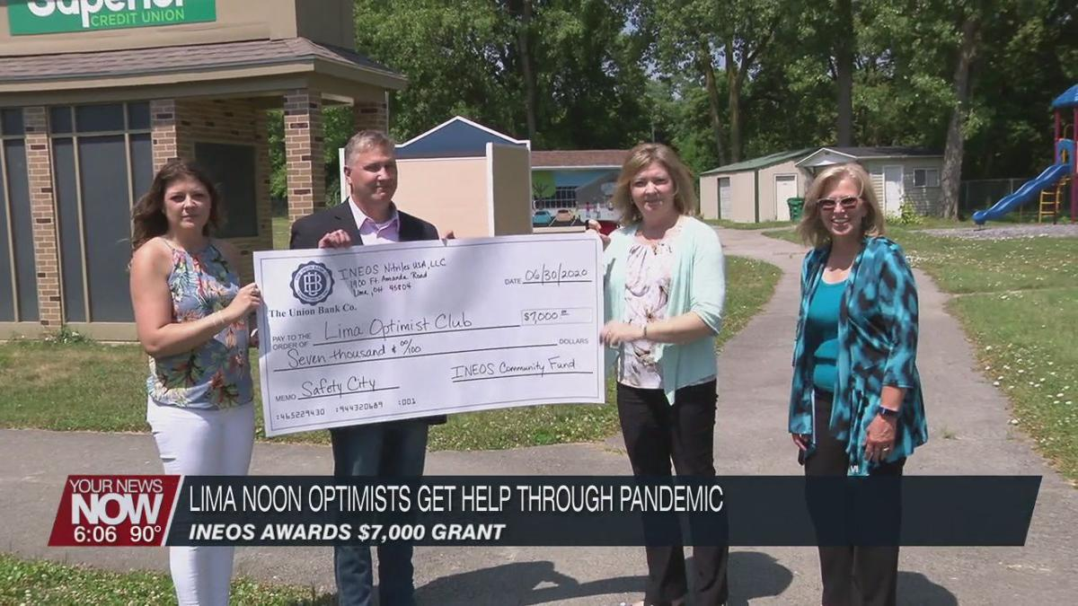 INEOS awards grant to Lima Noon Optimist Club to ease struggle through the pandemic