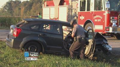 Two vehicle crash in Auglaize County sends four people to the hospital