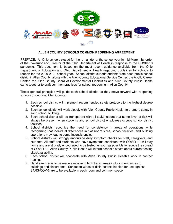 Allen County school guidelines