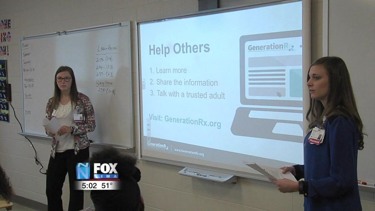 Mercy Health St. Rita's talking drug abuse with Elida HS students 2.jpg