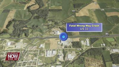 Wrong-way driver killed in two-vehicle crash in Auglaize County Saturday night
