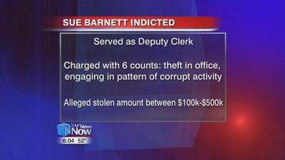 Barnett charged with theft in office