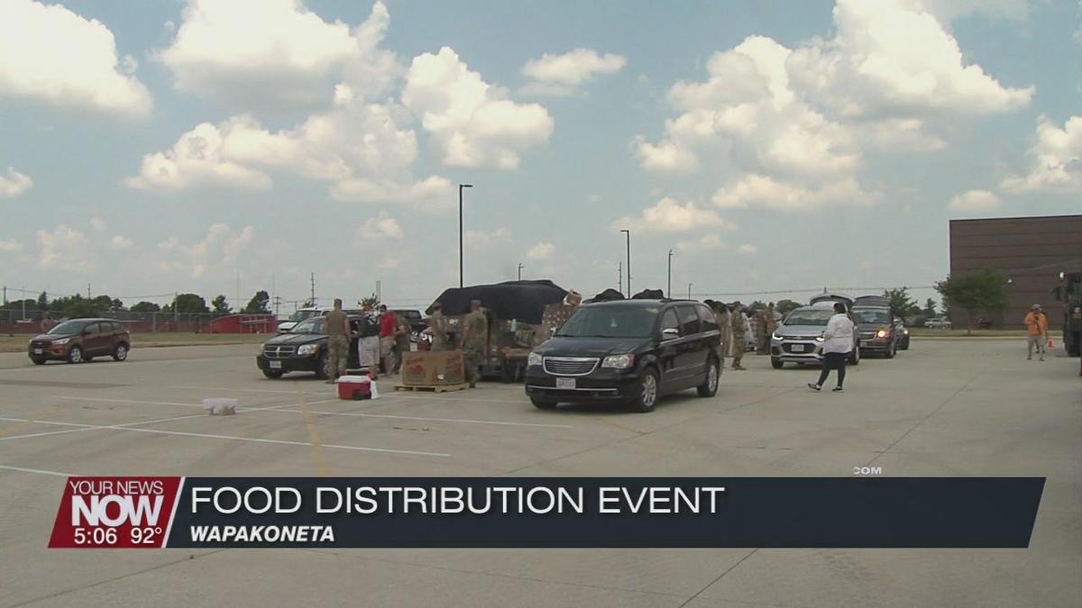 Food distribution held in Wapakoneta