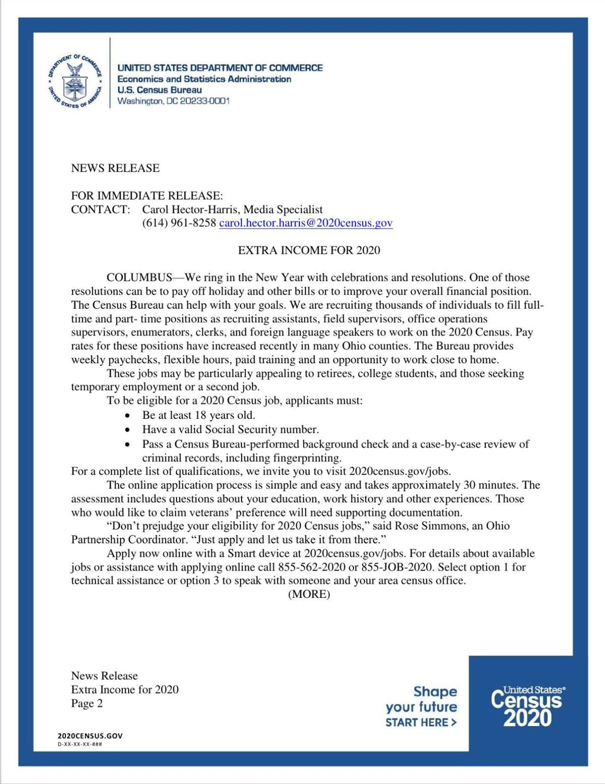 News Release, Extra income for 2020.pdf