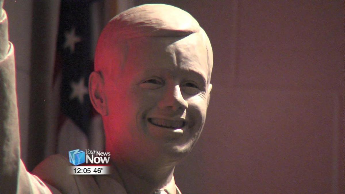 Sculptor of Neil Armstrong statue visits Wapakoneta Middle School 2.jpg