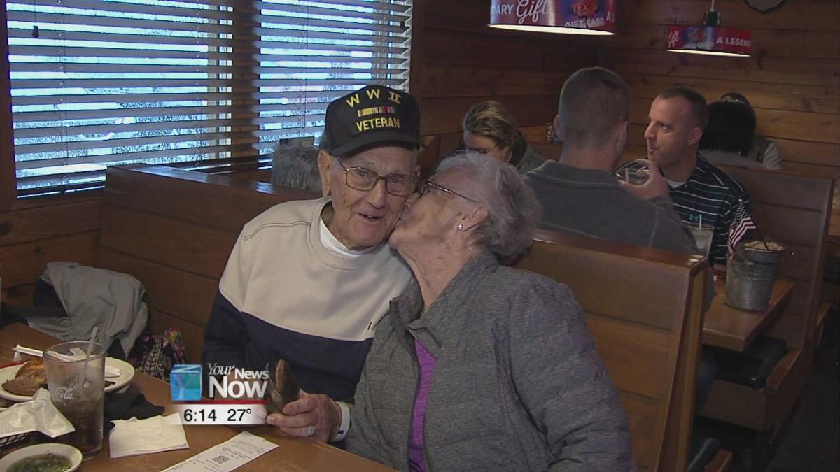 Area veterans treated to a free meal for Veterans Day