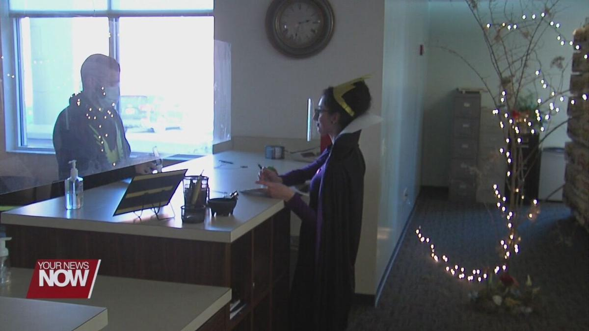 Allen County Auto Title Department decorates offices to keep Halloween tradition alive
