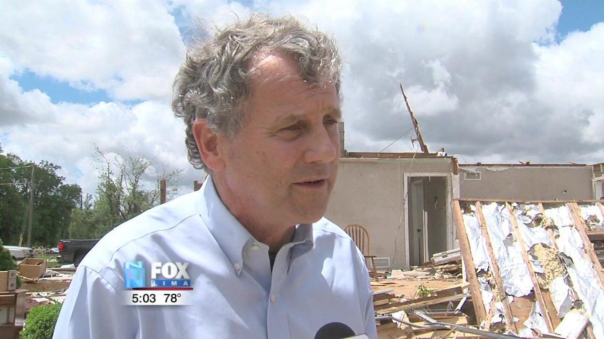 Sen. Sherrod Brown visits tornado damaged areas in Celina 2.jpg