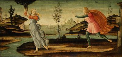 Daphne fleeing from Apollo