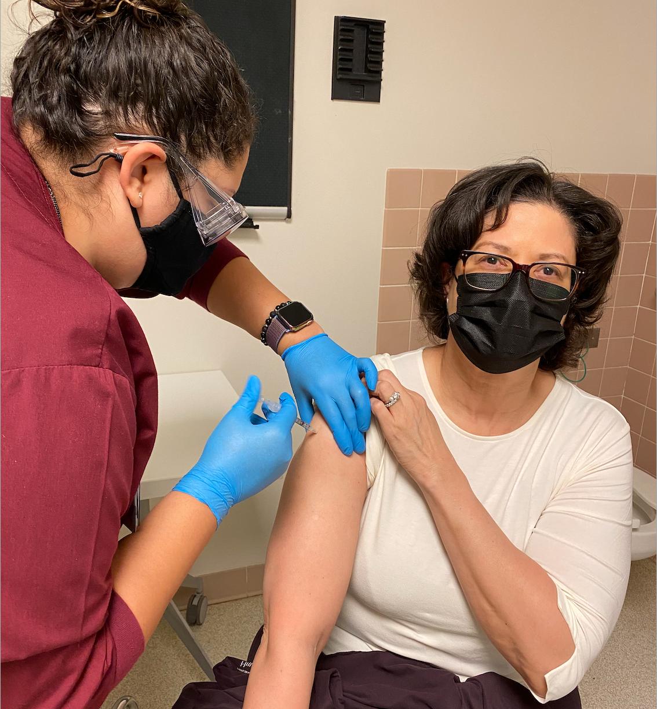 Battle gets vaccine