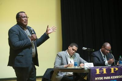 State Sen. Peters and challenger Ken Thomas gently spar at forum; Reps. Buckner and Tarvis skip
