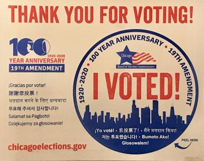 I voted