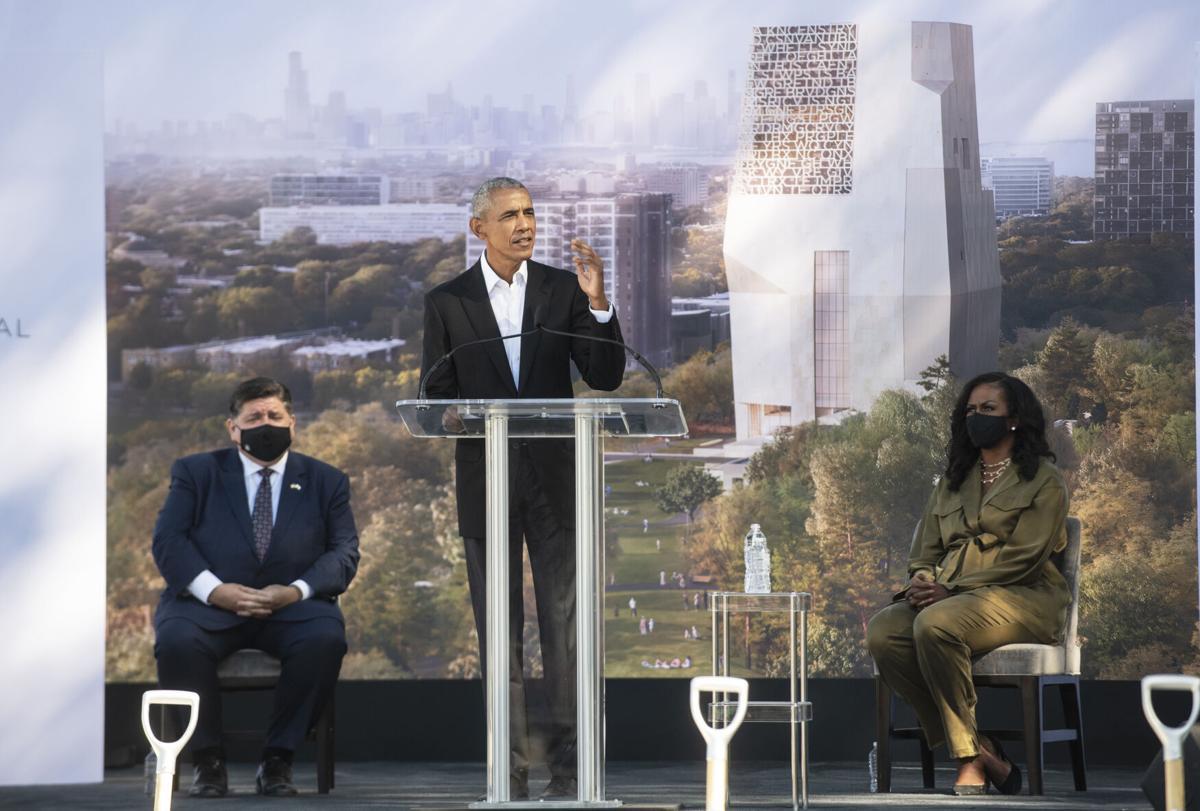 Barack Obama groundbreaking
