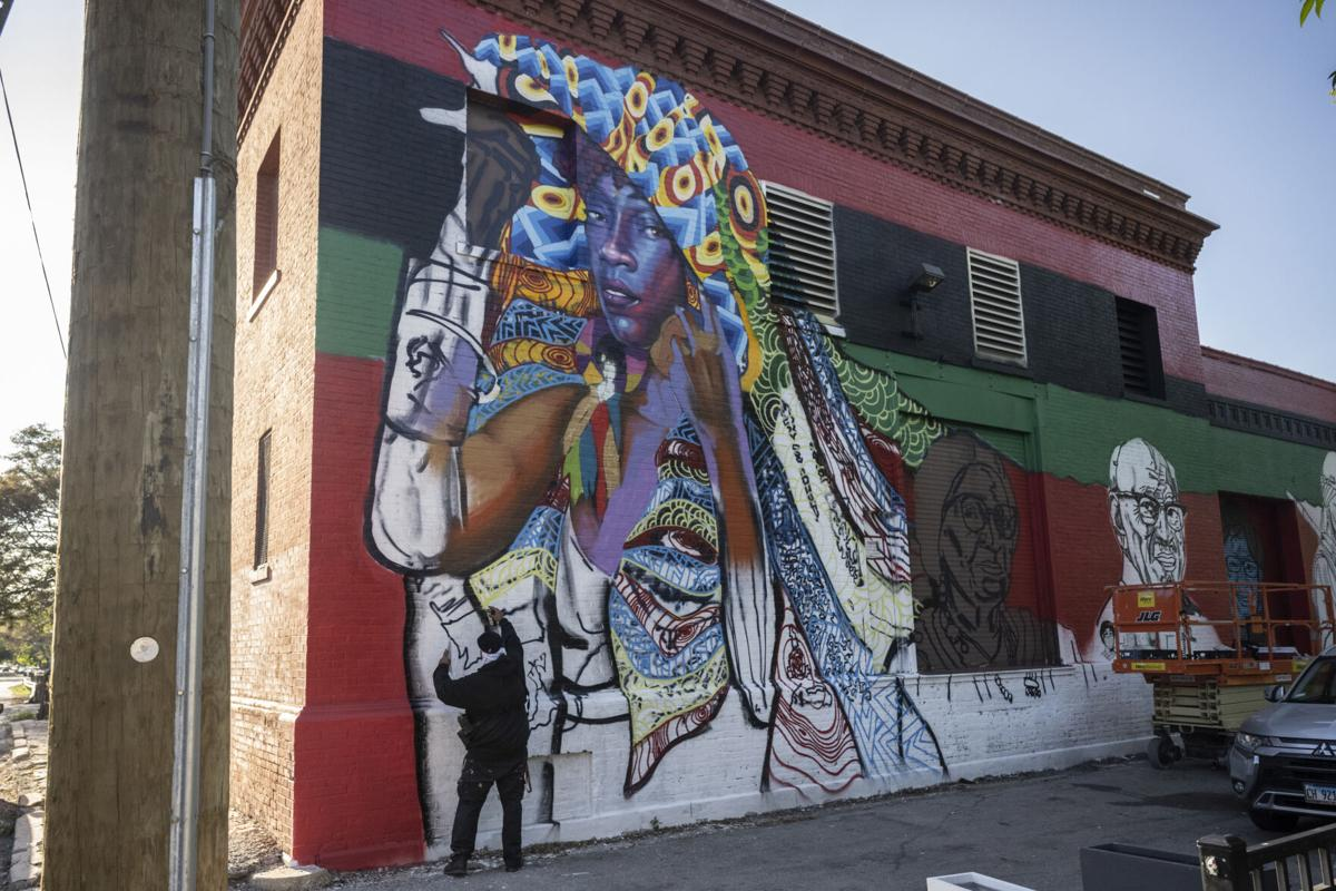 New mural in Houston Park nears completion