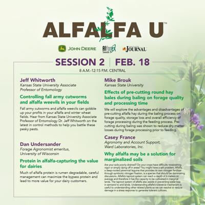 2021 Alfalfa U Feb 18 Schedule