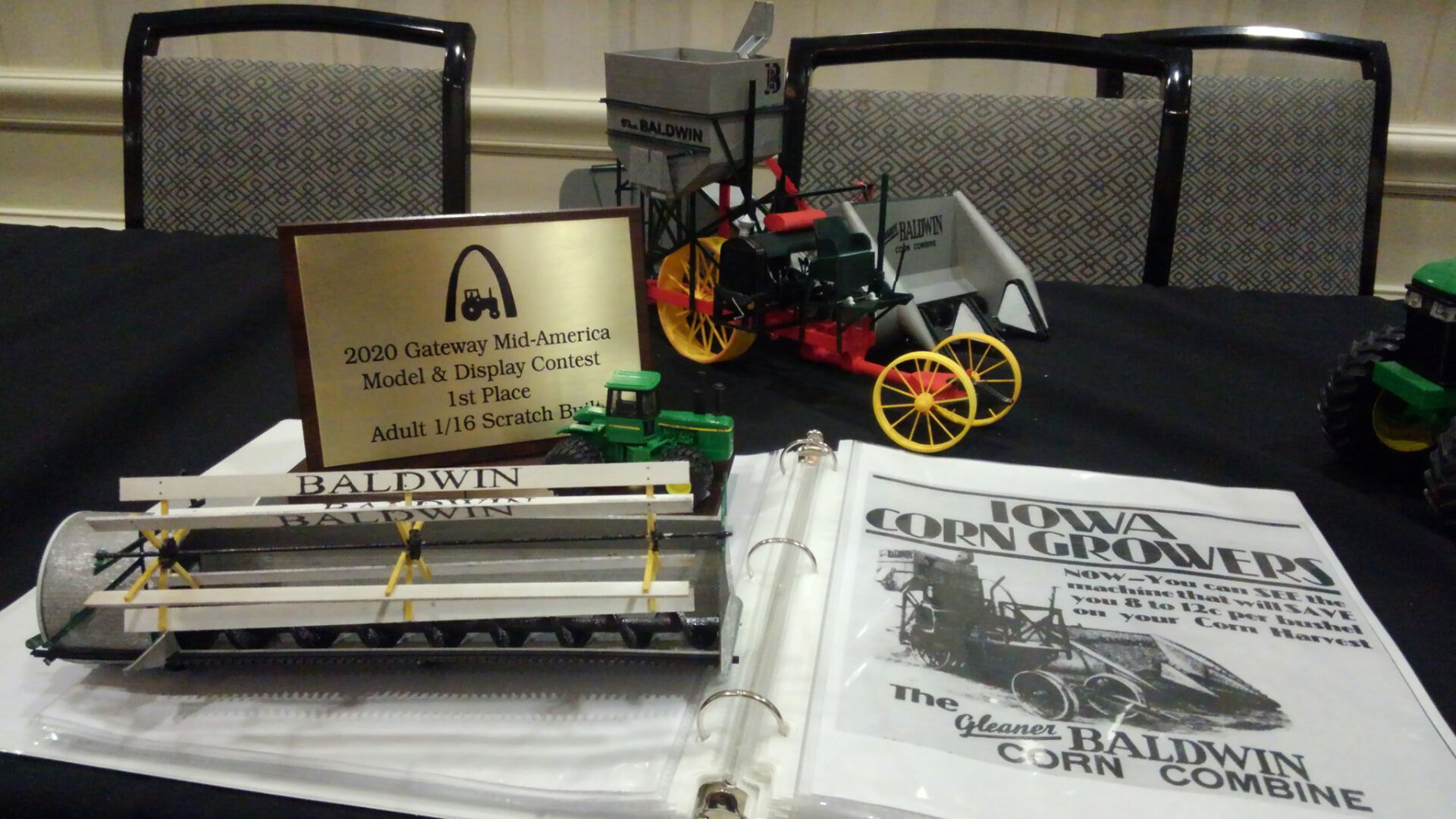 Kansas college student finds niche with farm equipment replicas