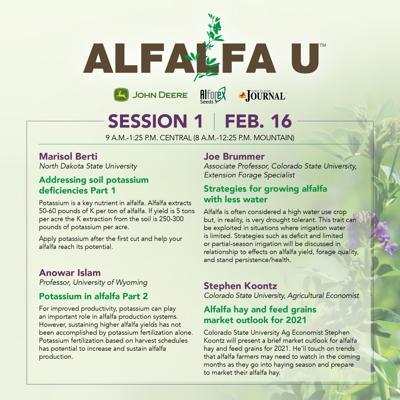 2021 Alfalfa U Feb 16 Schedule
