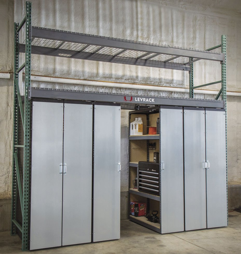 Levrack Introduces Mobile Aisle Shelving System