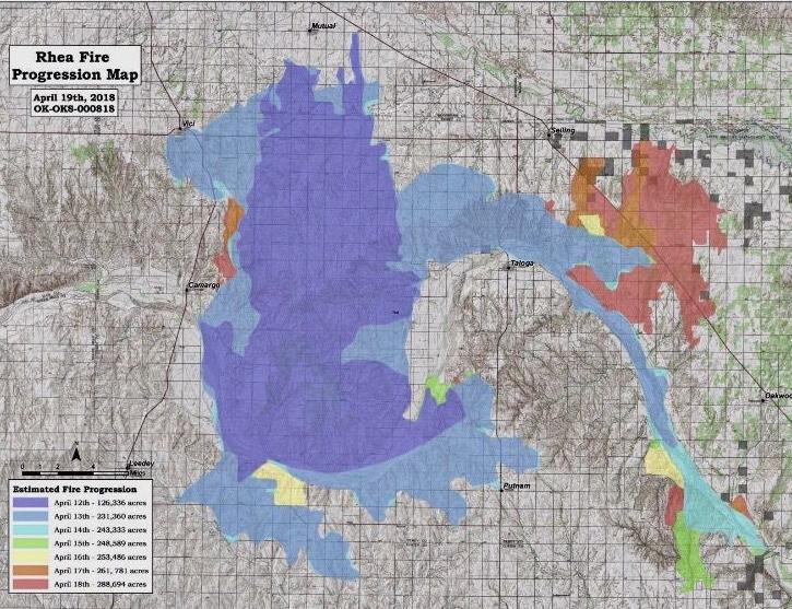 Rhea Fire Map.Assessing The Damage Hpj Com
