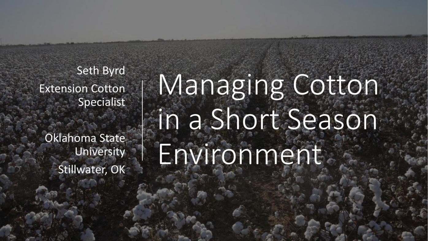 Seth Byrd - Cotton U Presentation