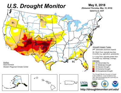 Storms improve drought-related conditions in Texas, Kansas and Iowa ...