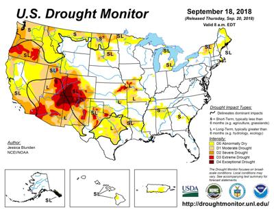 Drought expands in parts of South Dakota, Kansas and Wyoming   Ag ...