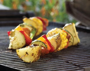 Grilled potatoes make for a crowd pleaser